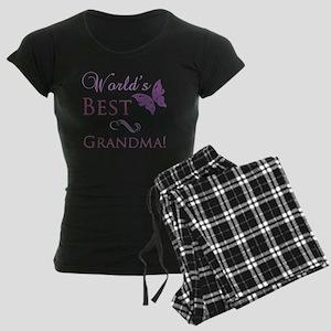 Butterfly_Grandma Women's Dark Pajamas