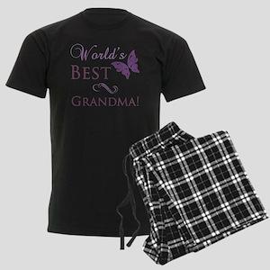 Butterfly_Grandma Men's Dark Pajamas