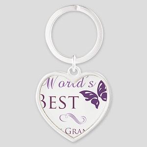 Butterfly_GreatGrandma Heart Keychain