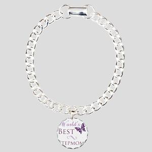 Butterfly_stepmom Charm Bracelet, One Charm