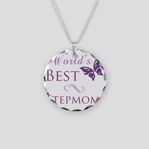 Butterfly_stepmom Necklace Circle Charm
