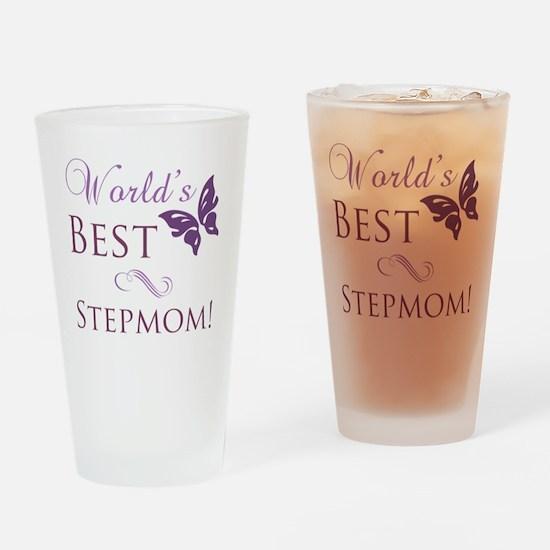 Butterfly_stepmom Drinking Glass