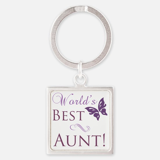 Butterfly_Aunt Square Keychain