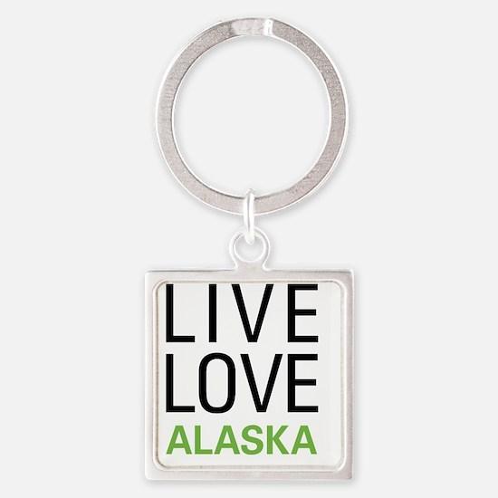 liveAK Square Keychain