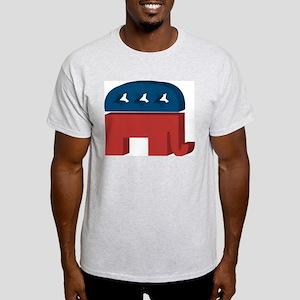3D Elephant Ash Grey T-Shirt
