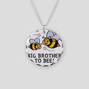 Big Bro Bee Necklace Circle Charm