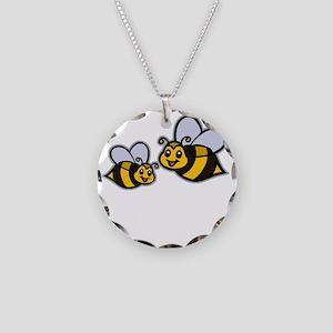 Big Bro Bee dk Necklace Circle Charm
