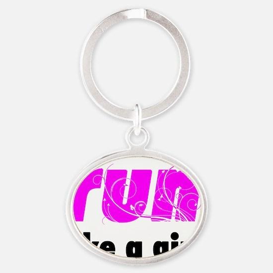 runlg_sticker Oval Keychain