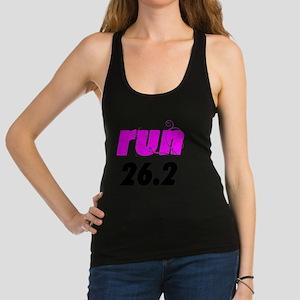 runlg_26_sticker Racerback Tank Top