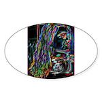 Negative Oval Sticker