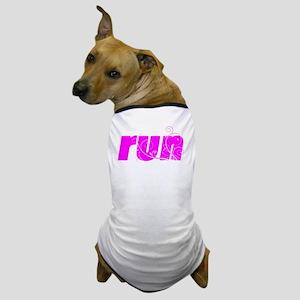 runlg_13_white Dog T-Shirt