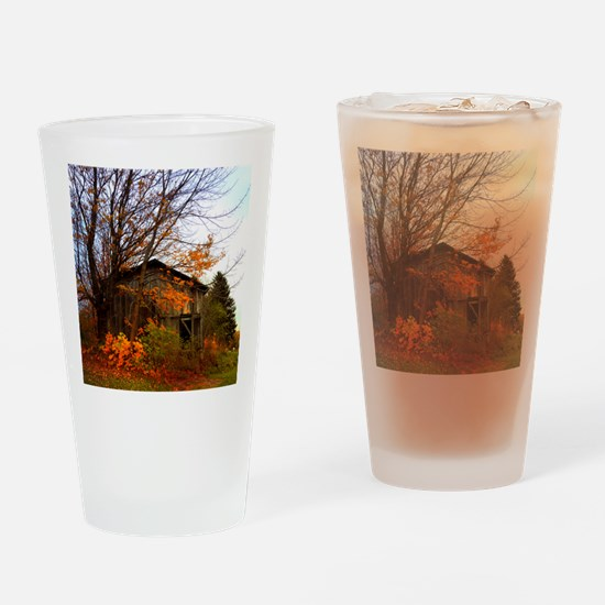 Autumn Shed Drinking Glass