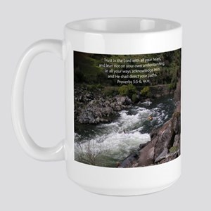 Trust in the Lord Proverbs Kayak Large Mug