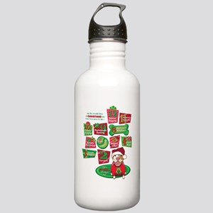 12 Dogs of Christmas Stainless Water Bottle 1.0L