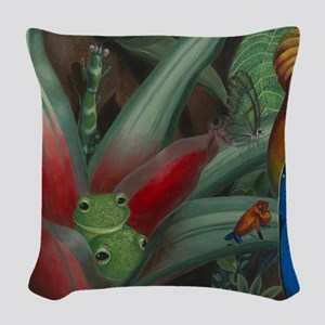 Cloud Forest Painting Section Woven Throw Pillow