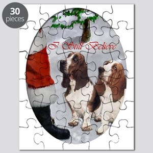 basset hounds christmas text 2 Puzzle