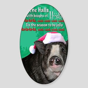 deck-the-halls Sticker (Oval)