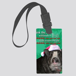 deck-the-halls Large Luggage Tag