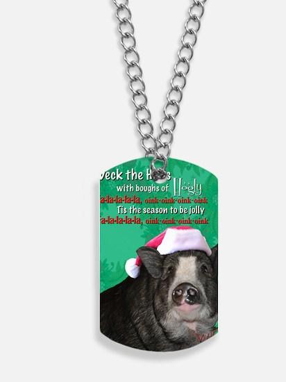 deck-the-halls Dog Tags
