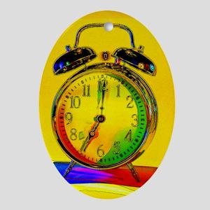 technicolor_clock copy Oval Ornament
