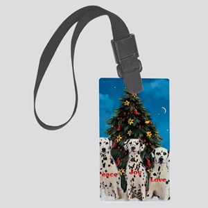 peacejoylovedalmatians Large Luggage Tag