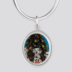 peacejoylovedalmatians Silver Oval Necklace