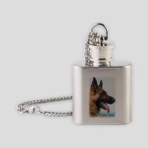 German Shepard Flask Necklace