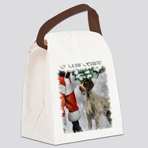 german wirehaired pointer christm Canvas Lunch Bag