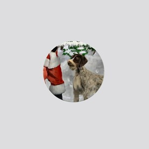 german wirehaired pointer christmas ap Mini Button