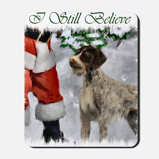 german wirehaired pointer christmas appa Mousepad
