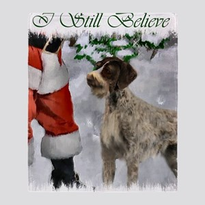 german wirehaired pointer christmas  Throw Blanket