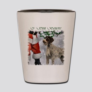 german wirehaired pointer christmas app Shot Glass