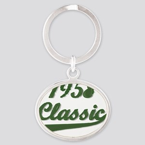 Classic Green 1958 Oval Keychain