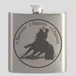 3 barrels 2 hearts Flask