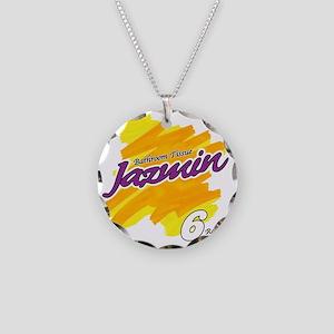 Jazmin Necklace Circle Charm