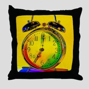 technicolor_clock copy Throw Pillow