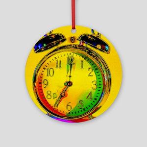 technicolor_clock copy Round Ornament