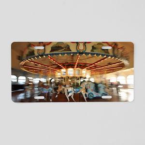 Santa Monica Pier Carousel Aluminum License Plate