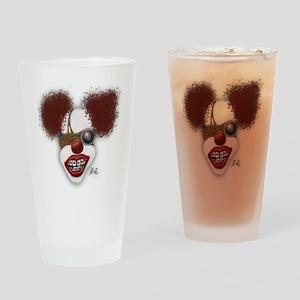 shirt clown copy Drinking Glass