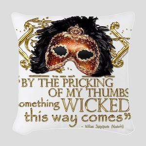 macbeth Woven Throw Pillow