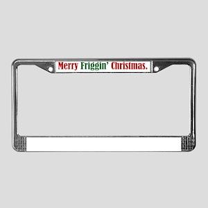 Friggin Christmas License Plate Frame