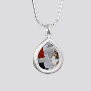 santas sheltie apparel Silver Teardrop Necklace