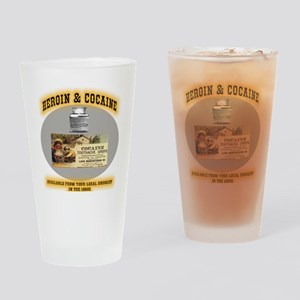 HEROINANDCOCAINE Drinking Glass