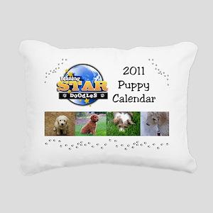 Puppy calendar cover4 Rectangular Canvas Pillow