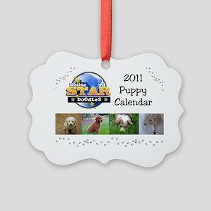 Puppy calendar cover4 Picture Ornament