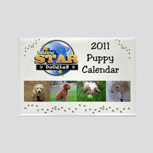 Puppy calendar cover4 Rectangle Magnet