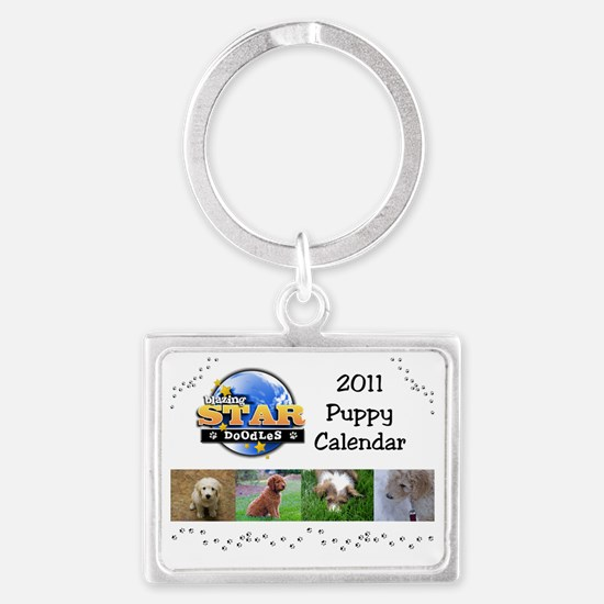 Puppy calendar cover4 Landscape Keychain