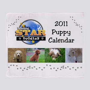 Puppy calendar cover4 Throw Blanket
