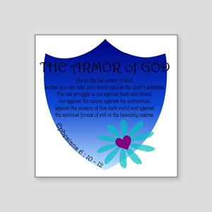"Armor of God Square Sticker 3"" x 3"""
