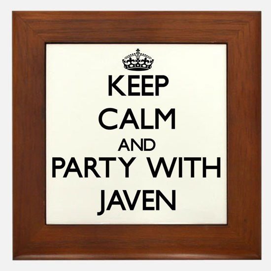 Keep Calm and Party with Javen Framed Tile